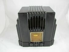 AWA EMPIRE STATE RADIO BLACK BAKELITE, THE FISK RADIOLETTE C1930'S