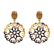 CG2406...ACRYLIC EARRINGS - FAUX TORTOISESHELL - FREE UK P&P