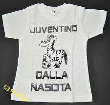 "MAGLIA JUVENTUS bambino neonato  0/2 anni ""JUVENTINO DALLA NASCITA"" t-shirt Juve"