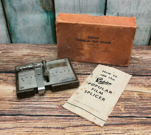 Ensign Popular 9.5mm Cine Film Splicer - Boxed with Manual