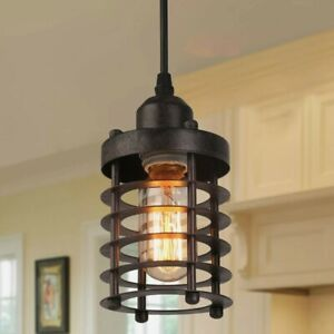 Mini Cage Pendant Lights Rust Ceiling Lights Industrial Pendant Lighting Kitchen