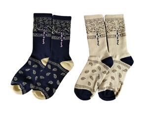 Travis Scott Cactus Jack Nike SB Dunk Custom Paisley Crew Socks 2 Pack CT5053-00