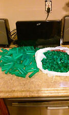 500 green plastic flower vials rubber stoppers florist bouquet supplies TUBES