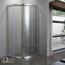 Box cabina doccia 80x80 semicircolare bagno angolare tondo cristallo opaco