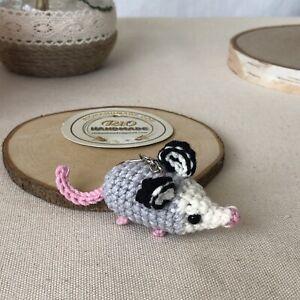 Crochet Baby Opossum- keychain