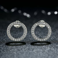 FOREVER STUD EARRINGS 100% 925 Sterling Silver CZ Sparking Studs + Gift Box