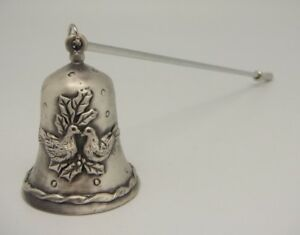 Candle Snuffer - Pair of Love Birds - Cast Pewter with a Lacquer Finish