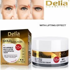DELIA COSMETICS Gold & Collagen 55+ Anti-Wrinkle Cream Day Night Face Cream 50ml
