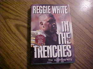 """1996 Reggie White  SIGNED Book """"IN THE TRENCHES"""" Green Bay Packers Near-Mint"""