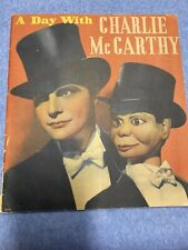 A Day With Charlie Mccarthy Book Vintage Nice!