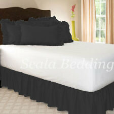 """800tc Egyptian Cotton Dust Ruffle 3 Piece Bed Skirt 15"""" drop all size & color"""