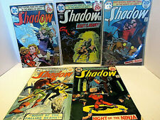 SHADOW DC COMIC BOOKS LOT OF 5 1970's # 4-6-7-8-9