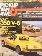 Pickup Van & 4WD Magazine Chevy 350 V-8 July 1977 010418nonrh