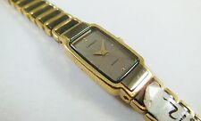 Lassale by Seiko Black & Gold Tone Metal 2E50-0110 Sample Watch NON-WORKING