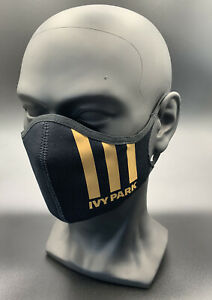 One (1) Adidas Face Mask Cover Authentic Adult Size Small Black Ivy Park Beyonce