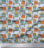 Soimoi Stoff Baumhaus architektonisch Stoff Meterware bedrucken - AT-517E