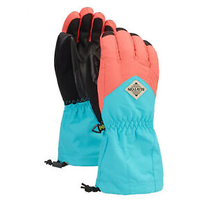 BURTON Youth Kids 2020 Snowboard Snow Profile Gloves Georgia Peach/Blue Curacao
