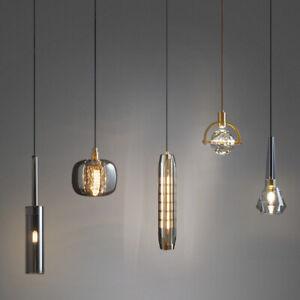 Modern Geometric Kitchen Pendant Light Glass Minimalist Suspended Lighting