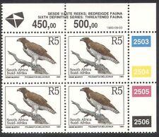 South Africa (RSA) 1993 Eagle/Birds/Nature/Wildlife/Conservation c/b (za10095)