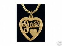 LOOK Silver Sweet Heart Pendant Charm Gold Plated Jewelry