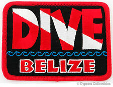 DIVE BELIZE- EMBROIDERED PATCH SCUBA DIVING FLAG LOGO IRON-ON TRAVEL SOUVENIR