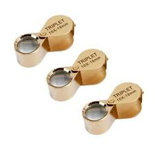 3PCS Mini 10X 18mm Lens Jewelry Repair Eye Loupe Magnifier Magnifying Glass New