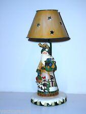 Santa  Metal & Resin Candle Lamp ~ New