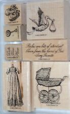 Stampin Up! Buggies and Booties Baby Retired Wood Mount Stamps