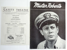 "1951 Tod Andrews in ""Mister Roberts"" Program and Gayety Theatre Insert"