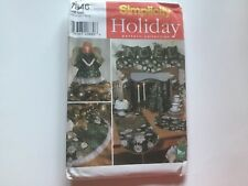Simplicity Holiday 7846 Angel Tree Topper Stocking Treeskirt & More Pattern
