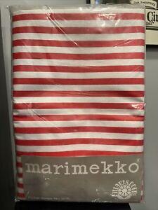 Marimekko Fallani and Cohn Picket Stripe No. 506 52 x 70 Oblong Tablecloth USA
