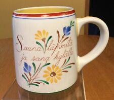 Vintage ARABIA Mug Made In Finland SAUNA LAMMITA JA SANA KYLALLE