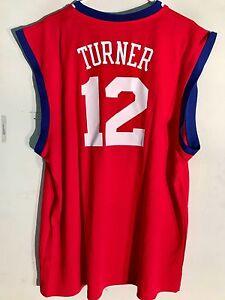 Adidas NBA Jersey Philadelphia 76ers Evan Turner Red sz XL