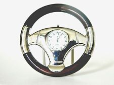 Steering Wheel Miniature Desk or Wall Clock Sanis New In Box