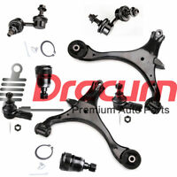 8PC Lower Control Arm Ball Joint Sway Bar Tie Rod KIT For Honda Civic Acura EL