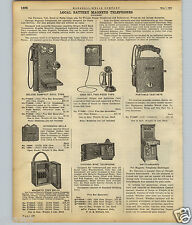 1922 PAPER AD Chicago Local Battery Magneto Telephone Phone Miners' Deluxe Wall