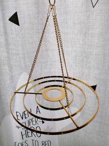 "5Pcs 8.6"" Stainless Steel  Hanger DIY Chandelier Frame Wedding Party Centerpiece"