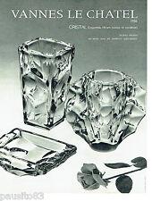 PUBLICITE ADVERTISING 056  1964 Le Cristal Vannes le Chatel vases cendrier Hiram