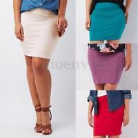 New Womens Sexy Micro Mini Skirt Five Colours Bodycon Dress Plus Size L-6XL
