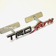 TRD Sport Metal Grill Badge Emblem Decal Supra Starlet Yaris Celica JDM Auris