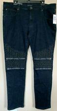 INC Young Mens Jeans Embellished Slim Skinny Stretch Moto Fashion Club Jeans $99