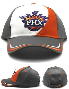 Phoenix Suns Adidas PHX New Elements Gray Orange Cotton Strapback Era Hat Cap