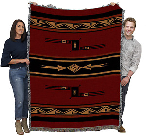 Native American Tribal Indian Camp Blanket Throw Rug Wrap Woven Cotton Tapestry