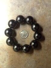 10pcs 24mm Magnetic Hematite Stone Crystal Polished Gems Round Spheres