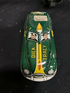 Vintage MARX Dick Tracy Tin Metal Friction Police Car GREAT CONDITION!!! MINTY!