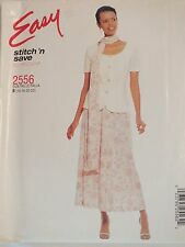 Amazing OOP McCALLS 2556 MS Unlined Jacket Skirt & Scarf PATTERN 16-22 UC