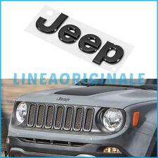 Scritta ORIGINALE Jeep Renegade stemma logo emblema cofano anteriore nero opaco
