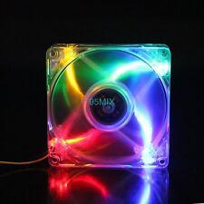 12V 3Pin/Molex 4Pin Colorful LED 92mm x 92mm x 25mm DC Computer CPU Cooling Fan