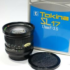 Canon FD fit Tokina SL17 17mm 1:3.5 lens Mint Boxed fits A1 AE1 F1N camera mount