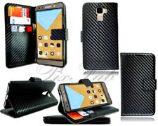 Carbon Fibre Mobile Phone Wallet Cases for Huawei Honor 7